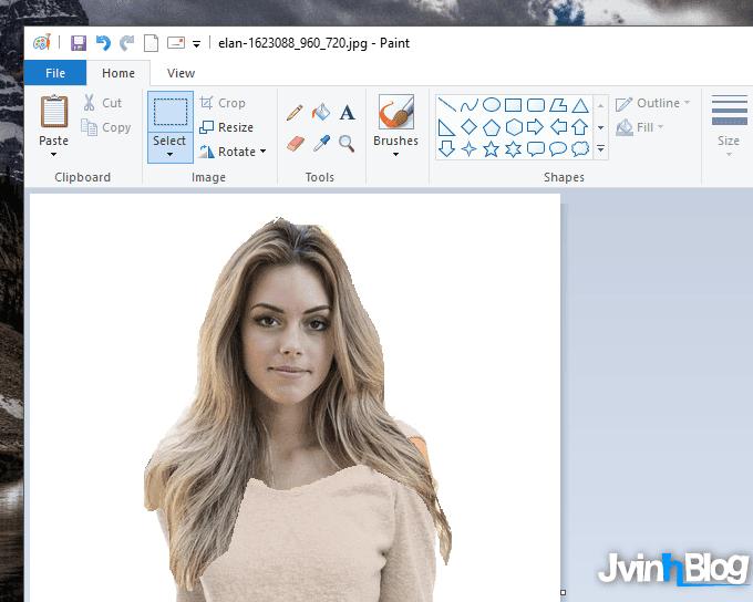 Cách ghép mặt vào ảnh bằng Paint đơn giản