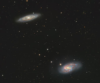 Spiral Galaxy M65 and M66