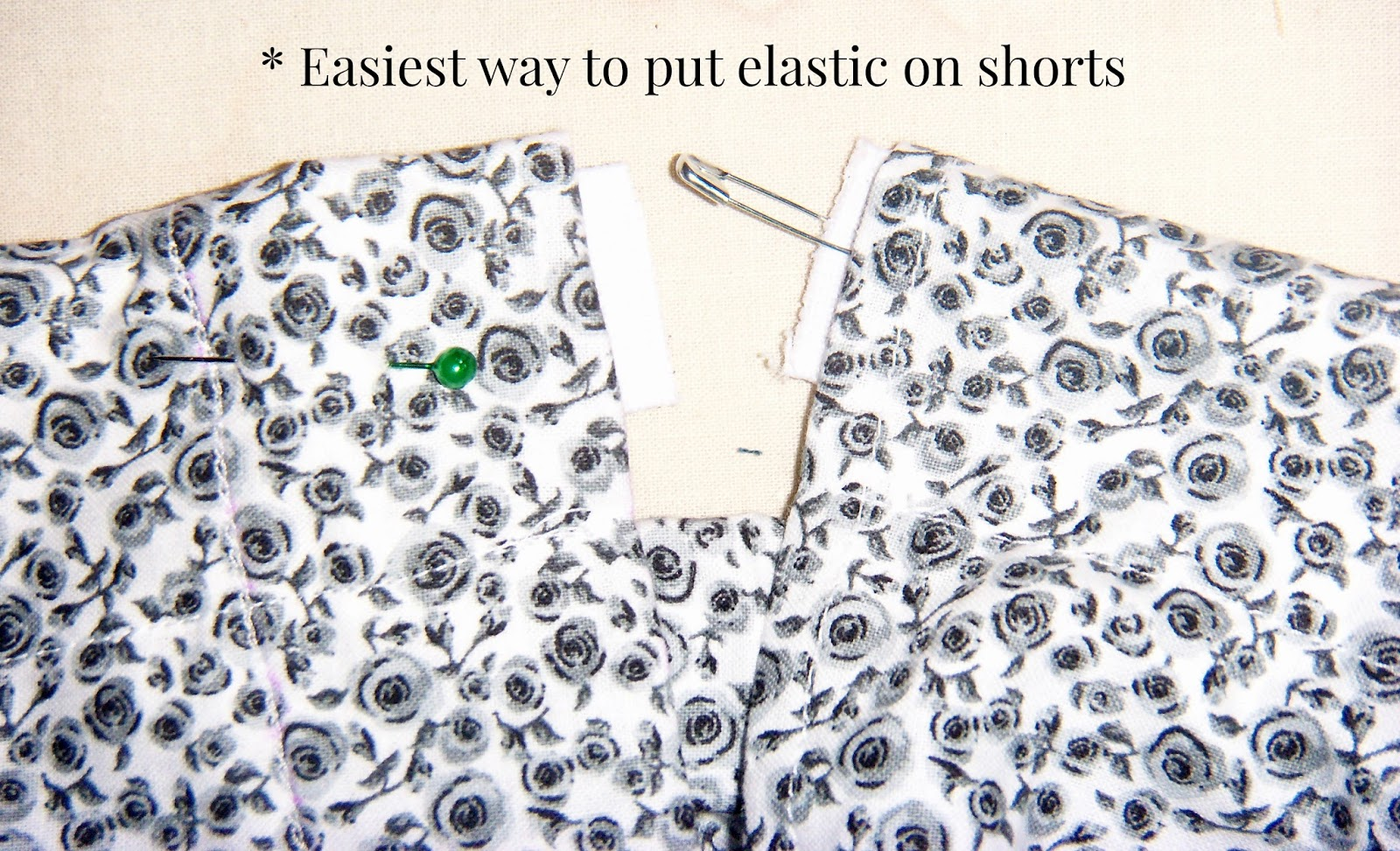 The safety pin elastic method