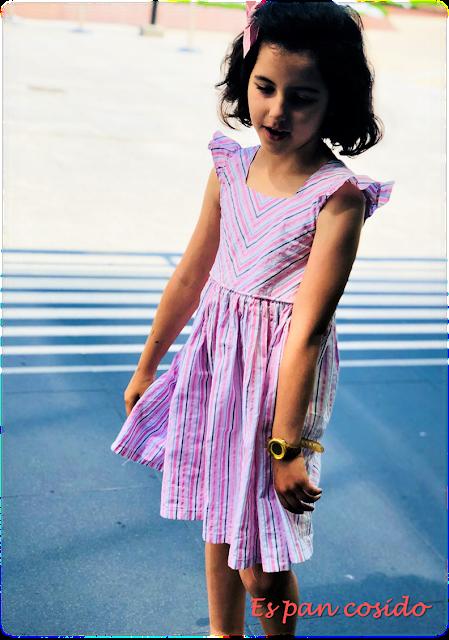 Vestido rayas patrón propio
