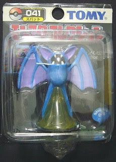 Zubat Pokemon Figure Tomy Monster Collection black package series
