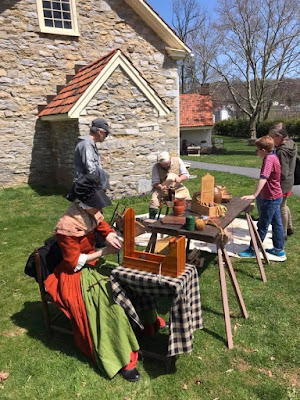 Tape loom demonstration at Conrad Weiser Homestead