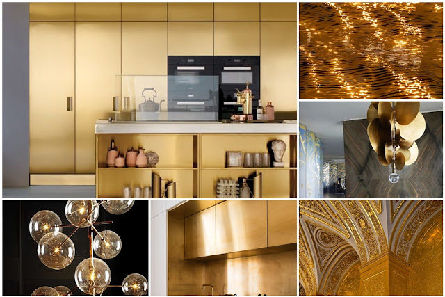Gold home interior designs are sweeping the modern decor for this year