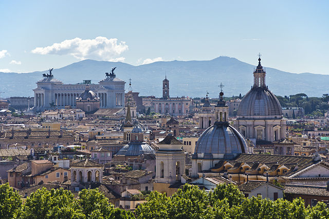 Beautiful skyline of Rome, Italy
