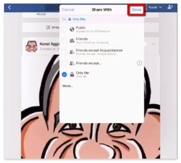Make Facebook Profile Picture Private