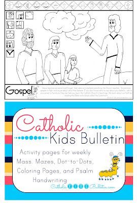 Catholic Kids Bulletin Coloring Page Luke 12.49-53