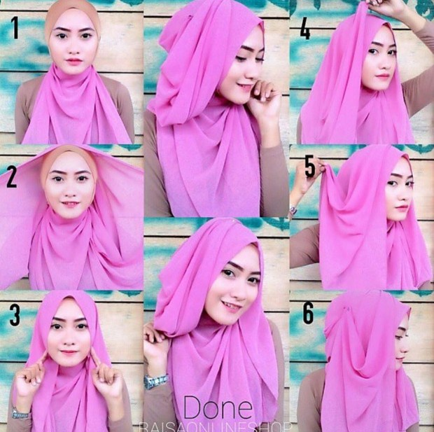 Tutorial Hijab Pashmina Simple Langkah Demi Langkah