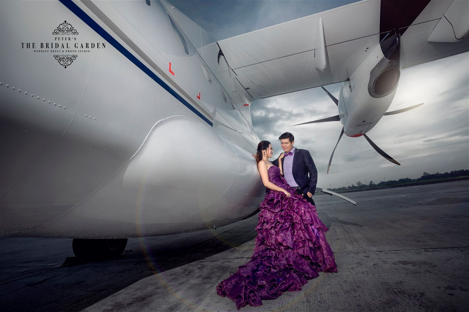 Moe Yu San Beautiful Moment Prewedding Pictures In Air Plane With Her Fiance