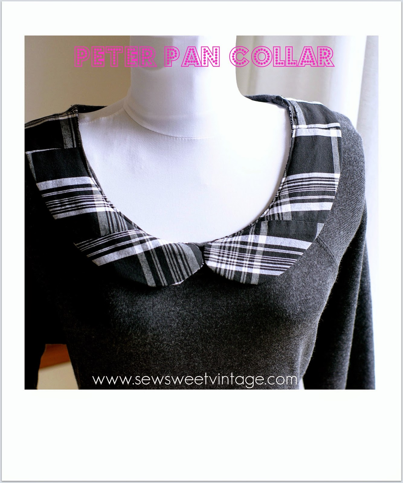 How to make a DIY custom Peter Pan Collar and pattern