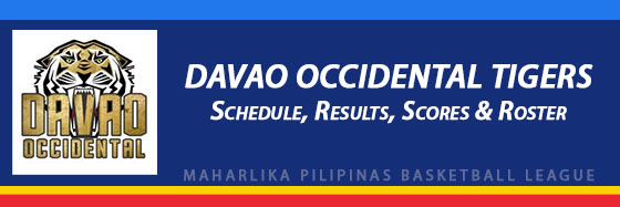 MPBL: Davao Occidental Tigers Schedule, Results, Scores, Roster