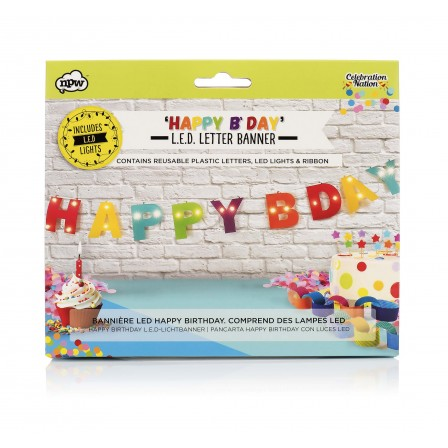 GOODIES - Light Up Birthday Banner