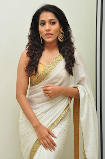 Actress Rashmi Gautham Pictures in White Saree at tur Talkies Audio Launch  0005