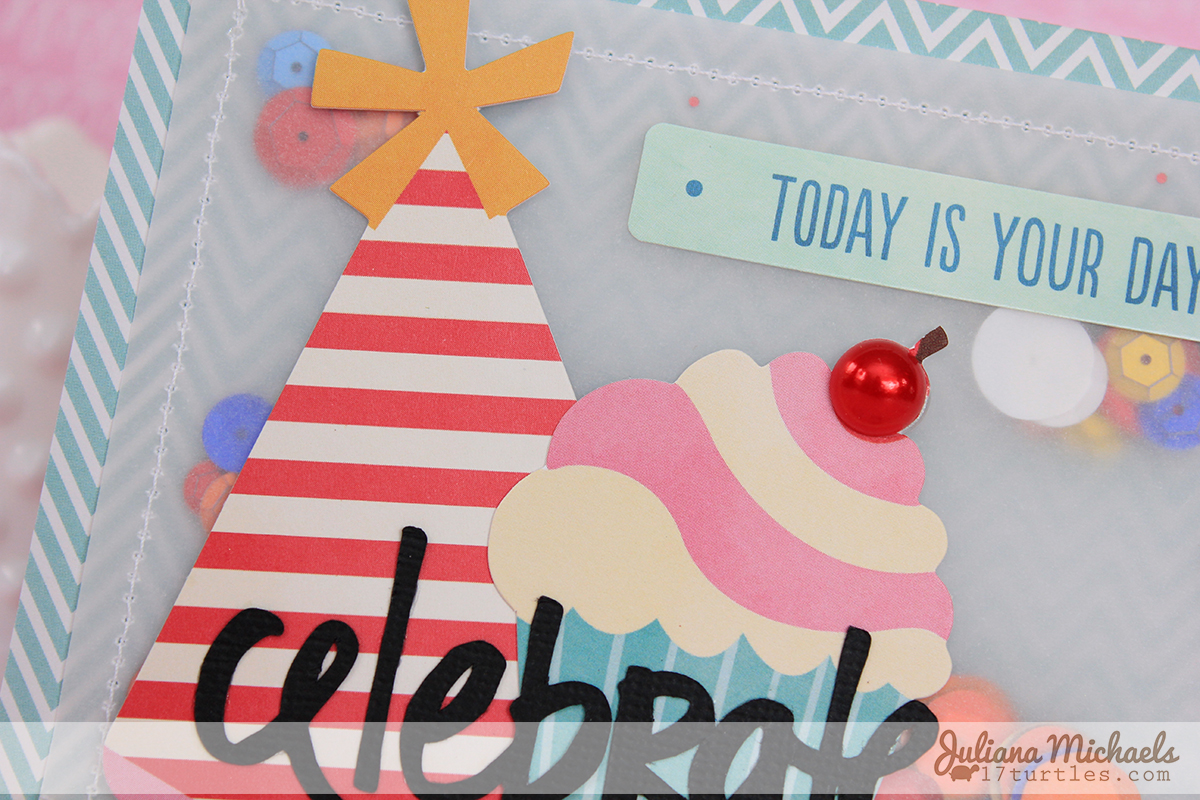 Celebrate Birthday Card by Juliana Michaels #happybirthday #birthdaycard #pebbles