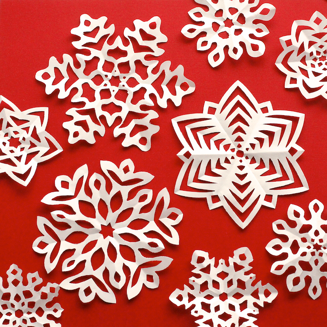 Origami Snowflake One Paper