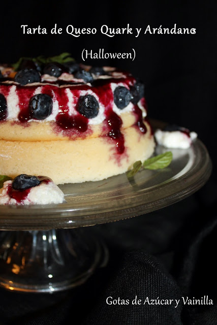 quark-blueberry-tart, hallowen-blueberry-cake