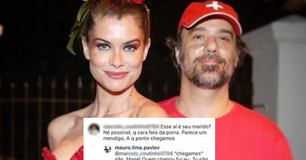 Marido de Alinne Moraes, Mauro Lima é chamado de feio