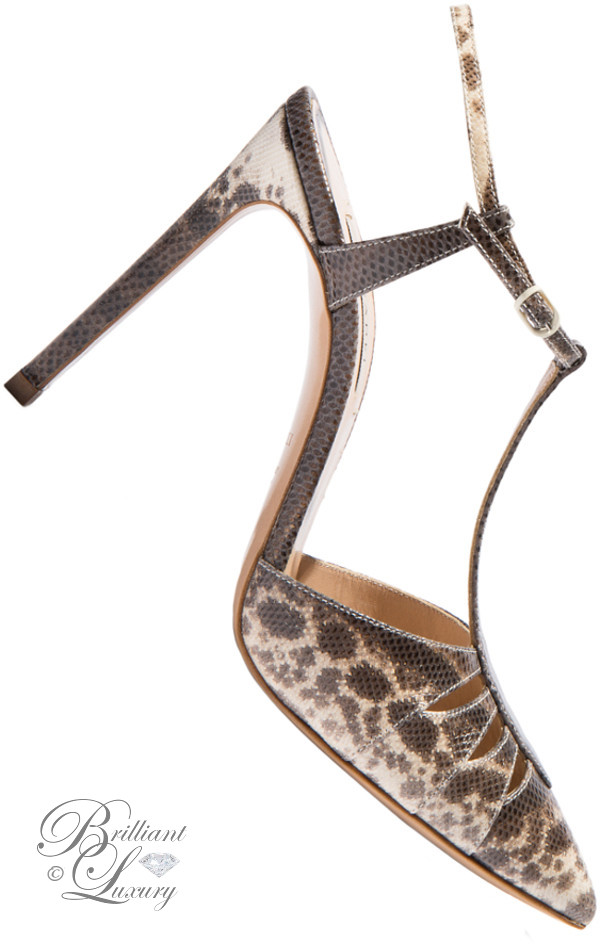 Brilliant Luxury ♦ Casadei T-bar sandals