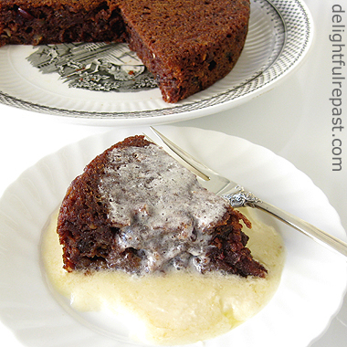 Steamed Persimmon Pudding with Brandy Butter Hard Sauce / www.delightfulrepast.com