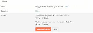 Cara mengatur blog dirayapi dan mudah ditemukan di google