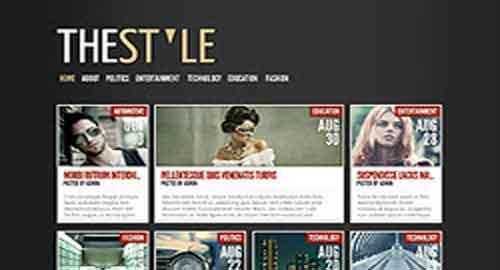 The Style Blogger Template