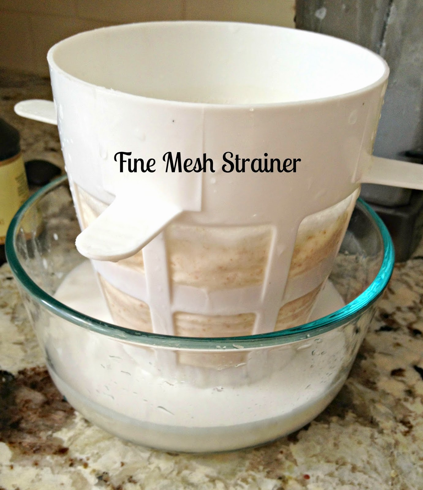 mesh strainer for almond milk
