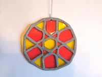 Stained glass with silver sculpey