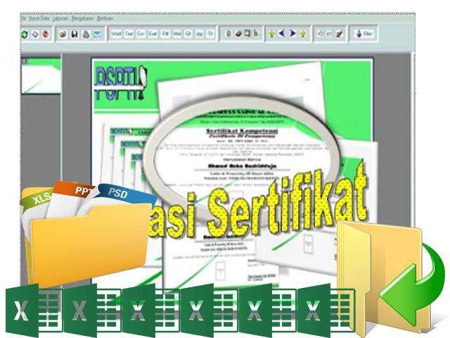 Download Master Aplikasi Pencetak Sertifikat/ Piagam Otomatis New 2016/2017