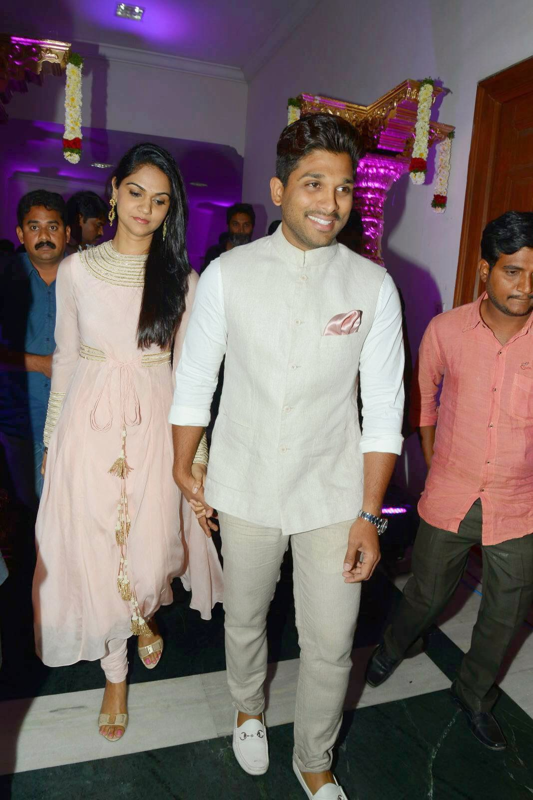 Allu Arjun - Sneha Latest Photos Gallery At Rajendra Prasad Son Wedding Reception