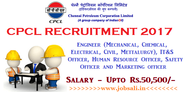 CPCL Careers, mechanical engineering jobs, diploma jobs in chennai