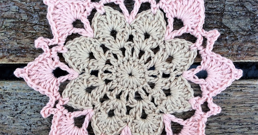 Two Color Flower Coaster Free Crochet Pattern