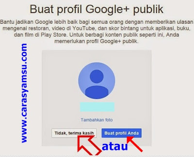 Buat akun google +publik