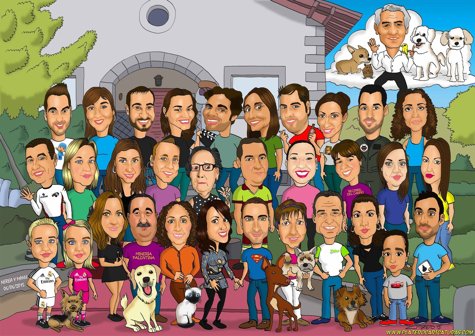 Feliz Personas Exitosas En Caricaturas: Platero: Caricaturas, Cómics E Ilustraciones