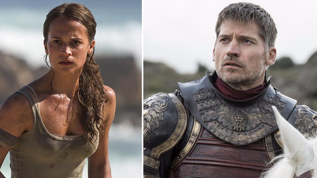Nossa nova Lara Croft e Jaime Lannister ♥