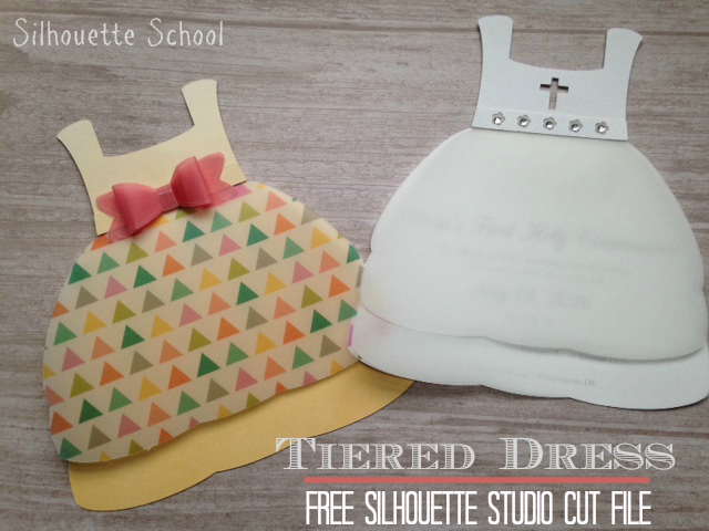 Silhouette Studio, Silhouette Cameo, free cut file, tiered dress