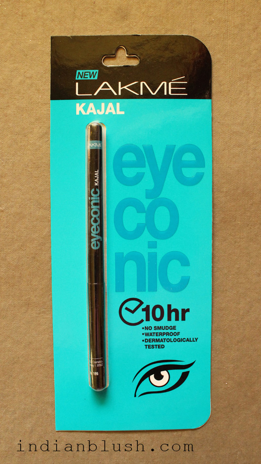 LAKME Eyeconic Kajal - Product Review and Swatches