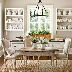 white-ironstone-display-dining-room
