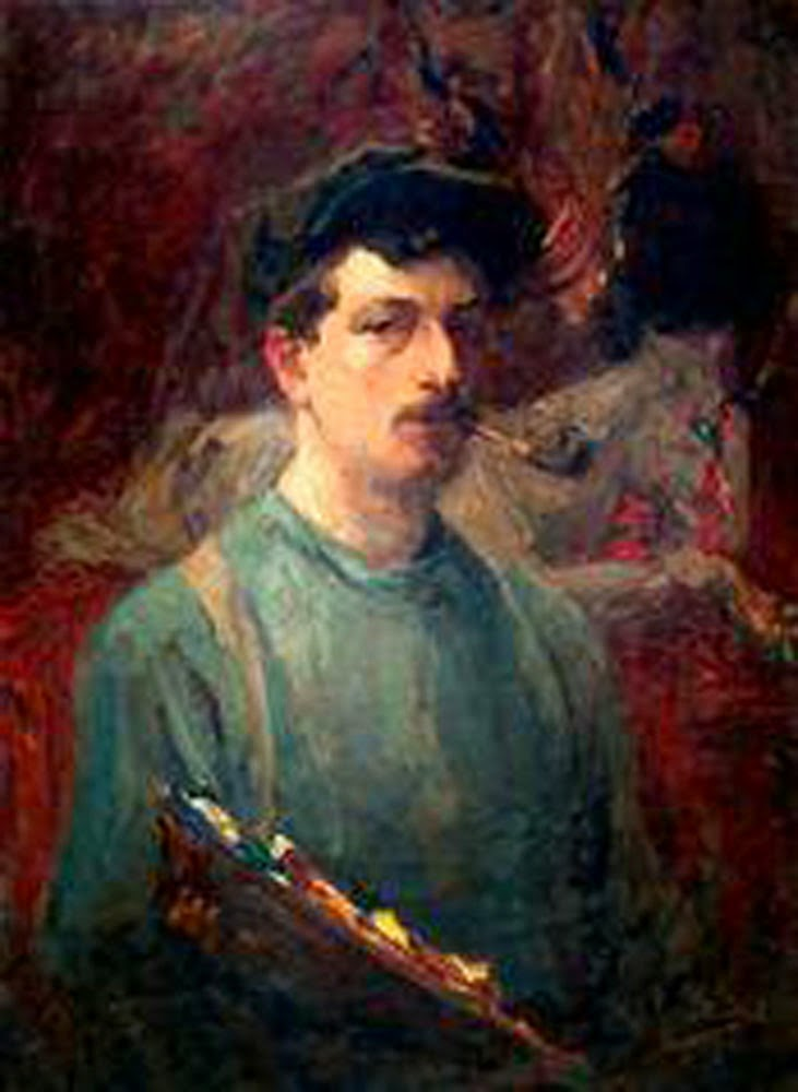 Kurt Peiser, Self Portrait, Portraits of Painters, Fine arts, Painter Kurt Peiser