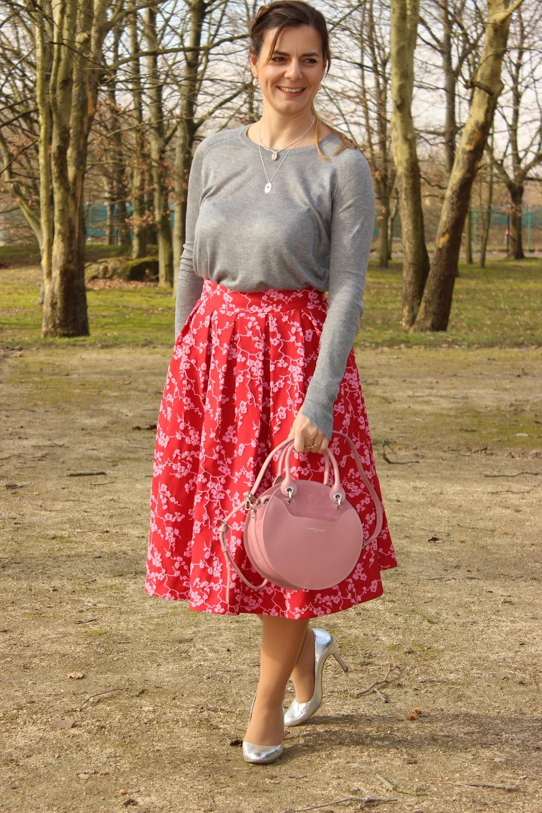 jupe rose tara jarmon, look du jour, les petites bulles de ma vie