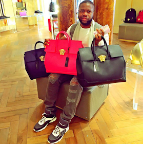 Nigerian Man shows off his Versace bags that he says cost N1m each
