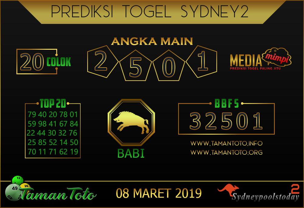 Prediksi Togel SYDNEY 2 TAMAN TOTO 08 MARET 2019