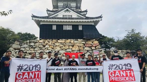 Tak Terbendung! WNI di Jepang Dukung #2019GantiPresiden