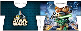 Tarjeta con forma de camisa de Star Wars Lego.