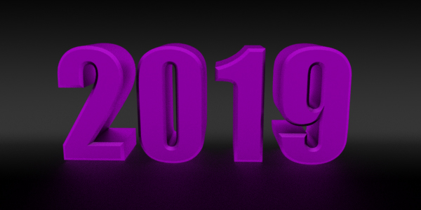 2019 happy new year 3d png images