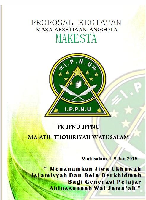 Komisariat Ipnu Ippnu Ma Ath Thohiriyyah Contoh Cover Proposal Makesta