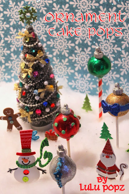 I think that these Christmas Ornaments Cake Pops look so cute and are a great treat for the holidays!