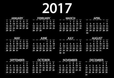 New Year 2017 Calendar Images Download Free