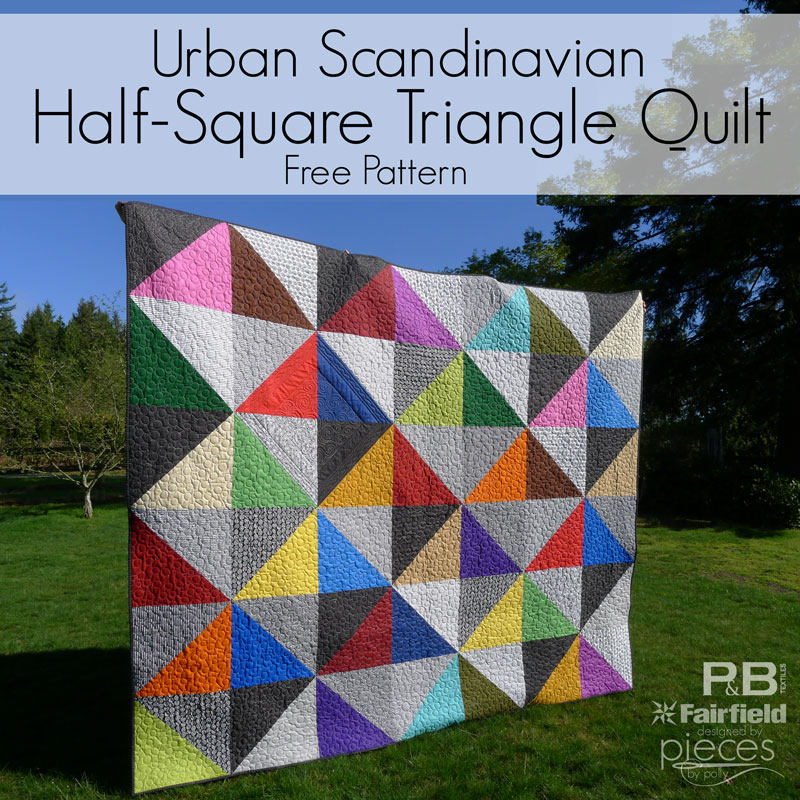 Pieces By Polly Urban Scandinavian Modern Half Square Triangles Quilt
