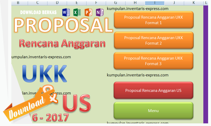 Aplikasi Hitung Rencana Anggaran Pelaksanaan UKK dan US dengan Excel