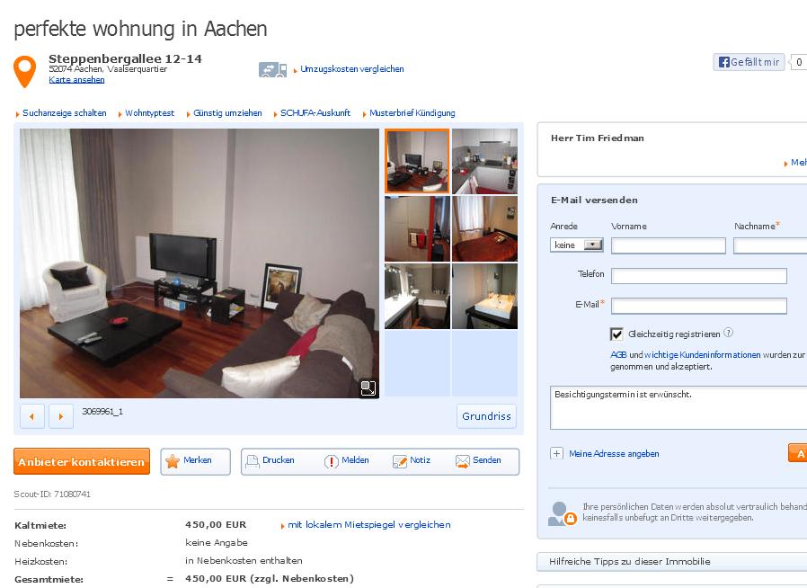 Immobilienscout Wohnung Mieten Aachen