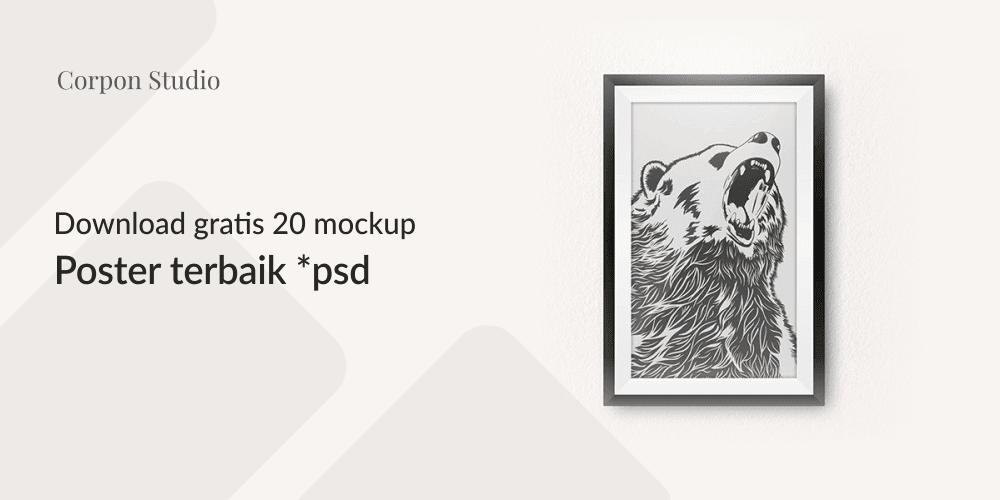 Download Poster Mockup PSD Terbaru Gratis